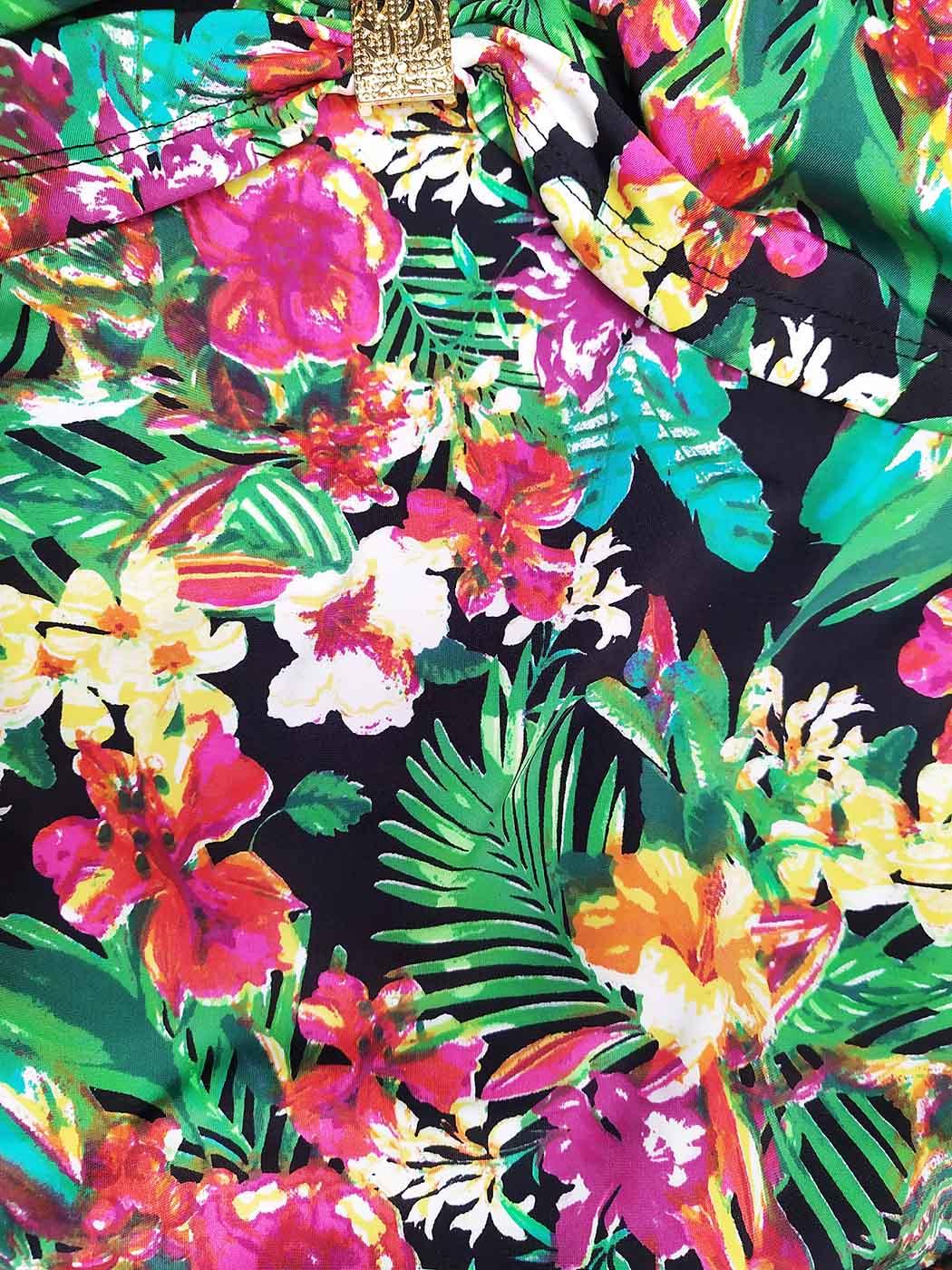 Maiô Tropical com Amarração nas Costas