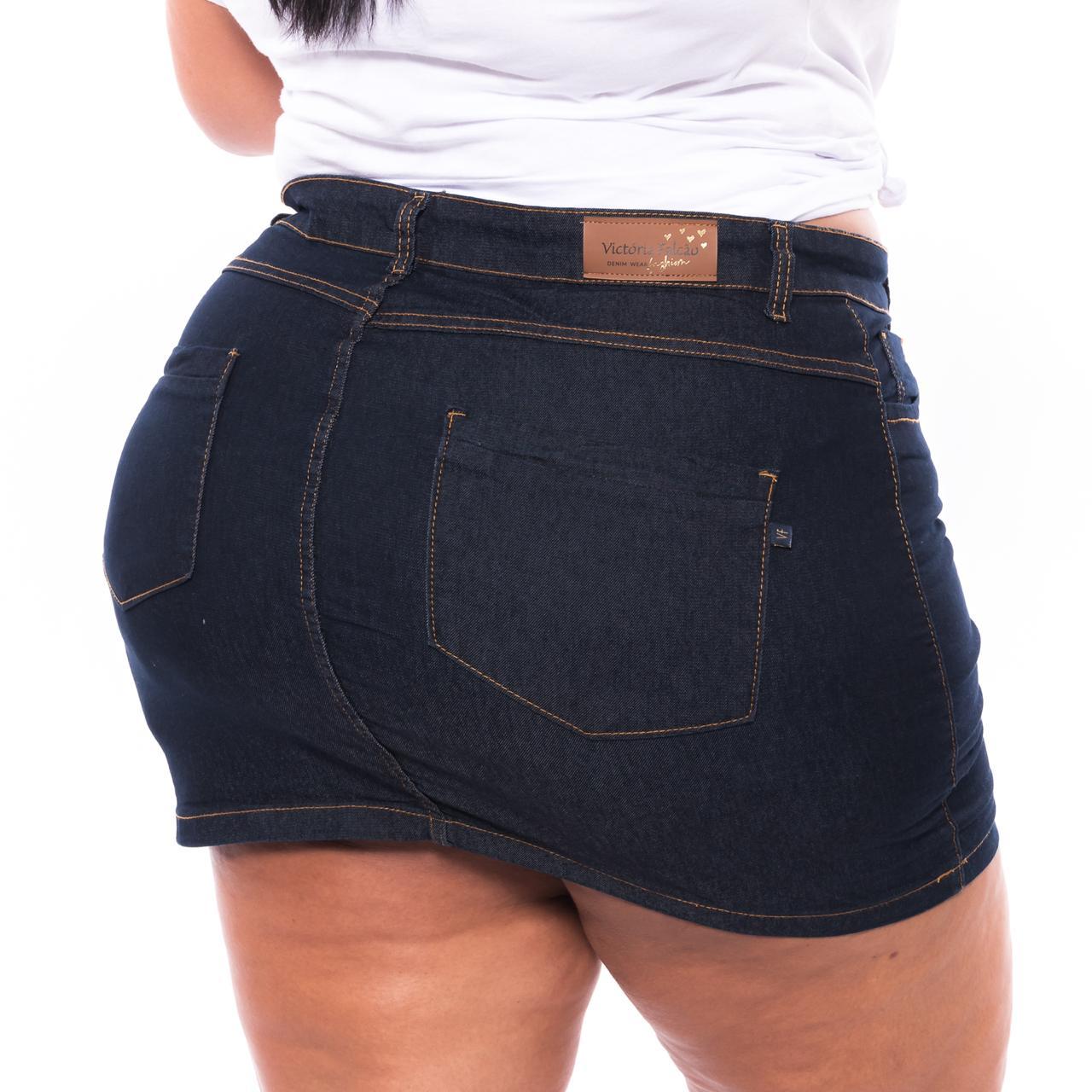 Mini Saia Jeans Lavagem Escura