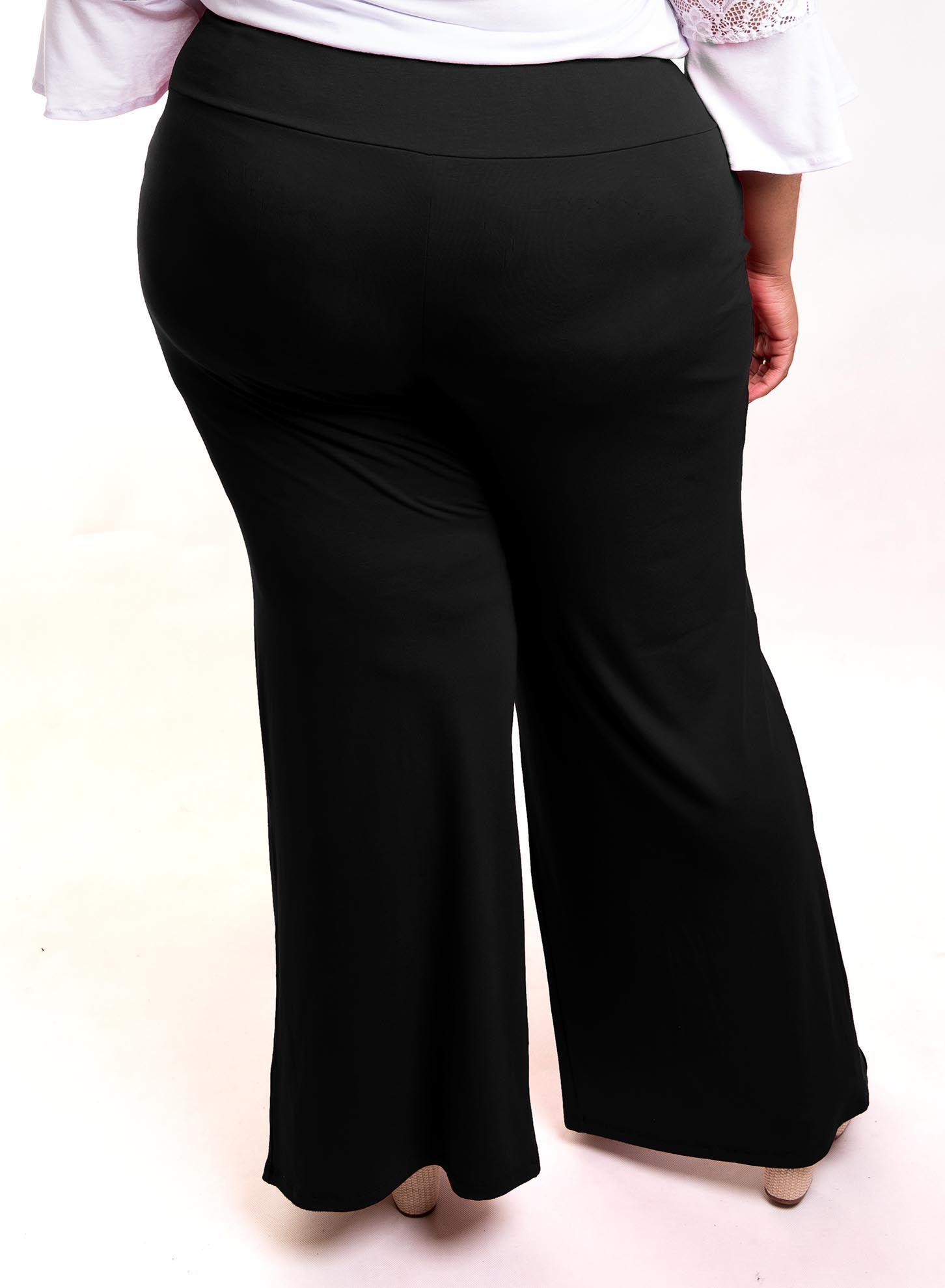 Calça Pantalona com Fenda Frontal