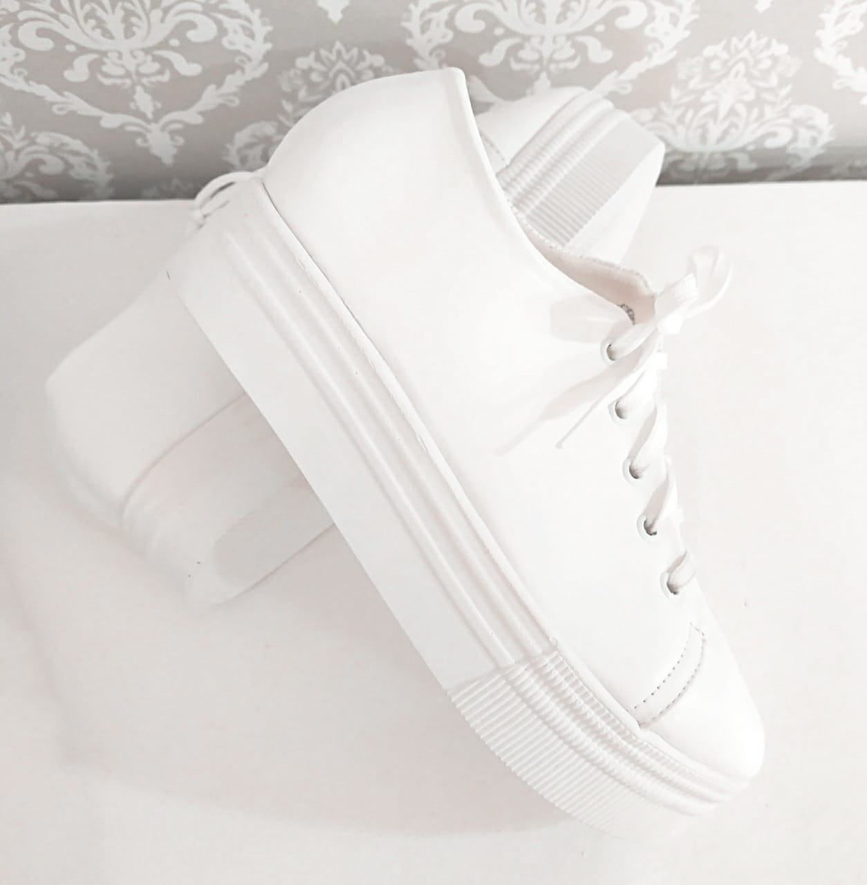Tênis Branco Casual Flatform