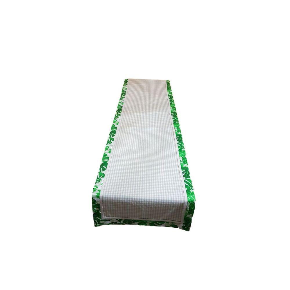 Caminho de Mesa Dupla Face Costela de Adão em tricoline 100% algodão