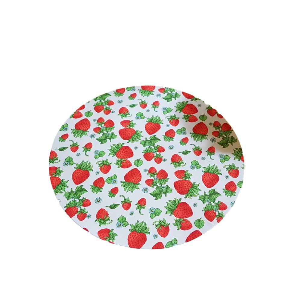 Capa Sousplat Face Única Frutas 100% Algodão