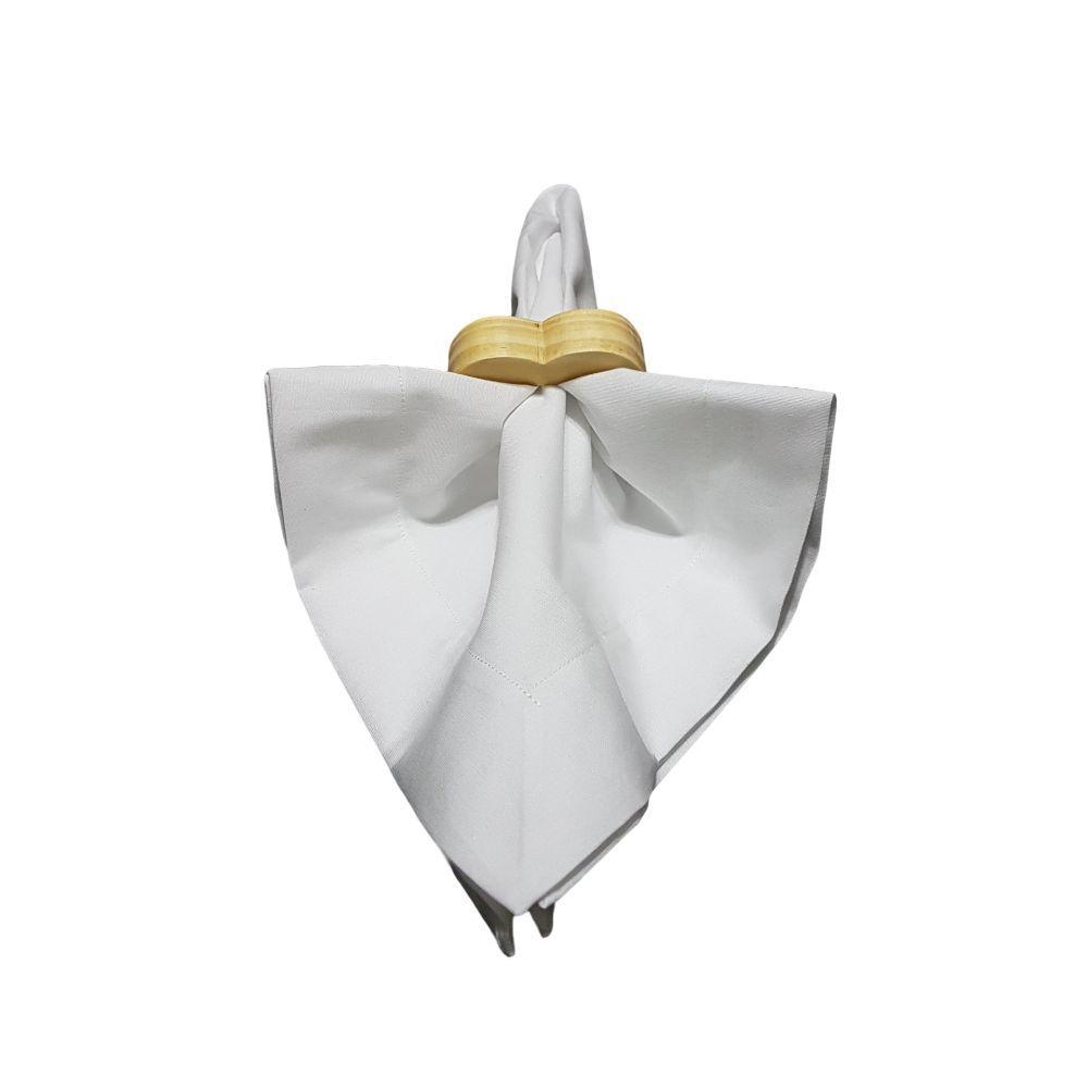 Guardanapo Branco em tricoline 100% algodão