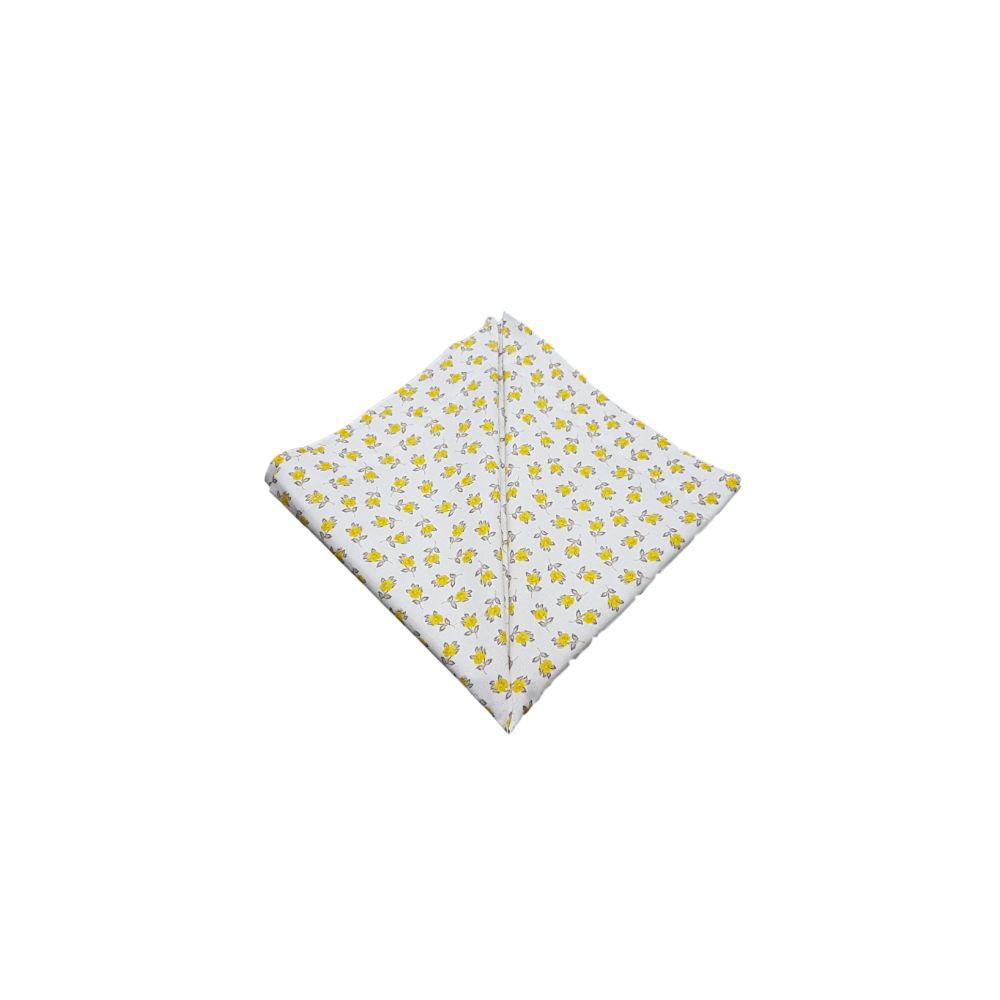 Guardanapo com Estampa Floral amarelo em tricoline 100% algodão