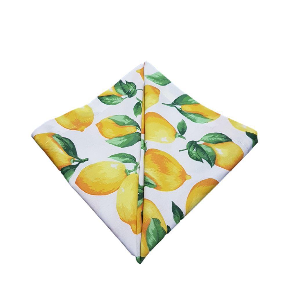 Guardanapo Diversas Estampas Frutas em Tricoline 100% Algodão
