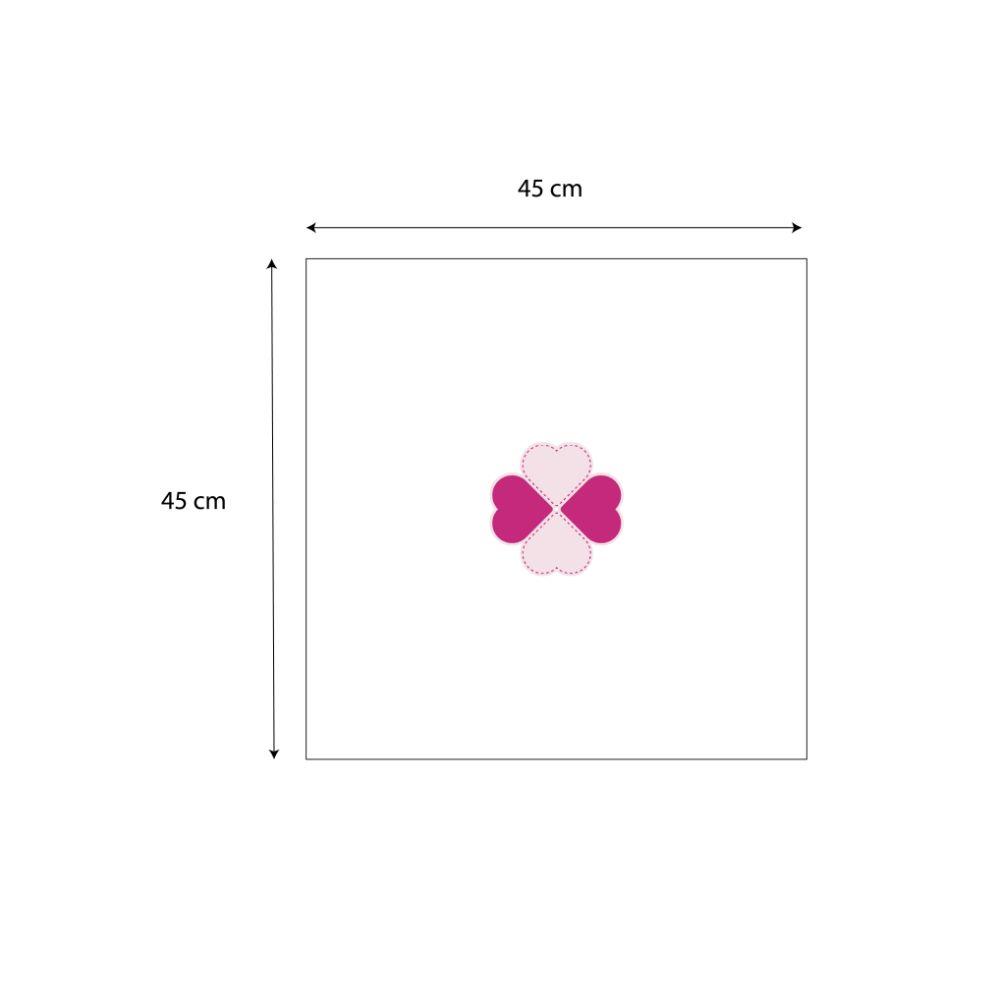 Guardanapo Liso Rosa em tricoline 100% algodão