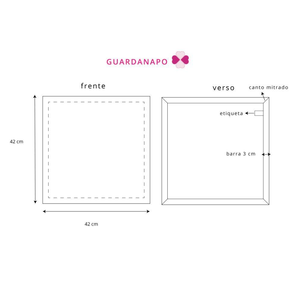 Jogo Americano Listrado Vermelho + Guardanapos + Porta  Guardanapos - 6 pcs
