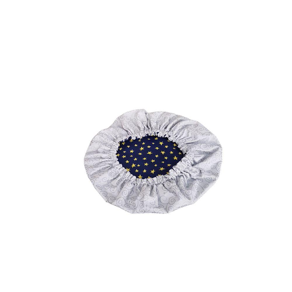 Kit Capas para Sousplat Dupla Face Estrela Azul e Prateado - 6 Pçs