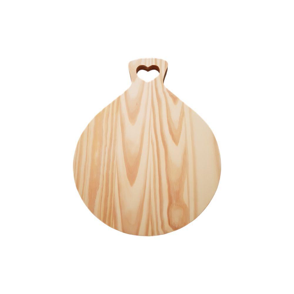 Tábua de Mesa com Cabo em Formato de Coração em madeira pinus