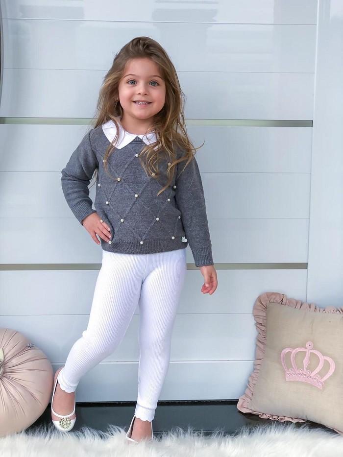 Blusa Tricot Infantil Menina Emily