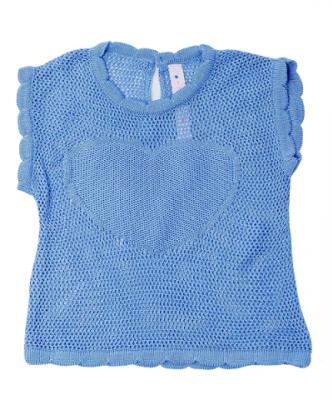 Blusa Tricot Infantil Menina Heart