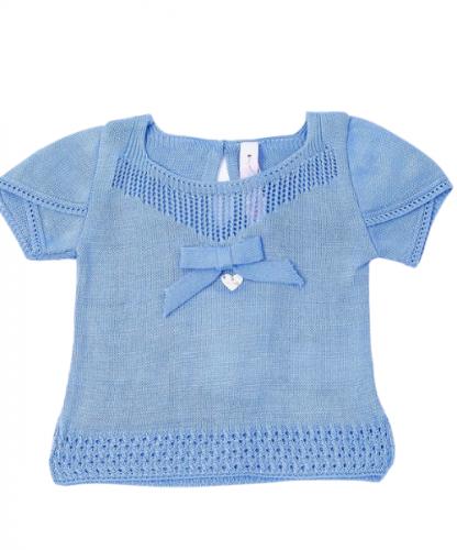 Blusa Tricot Infantil Menina Laçarote
