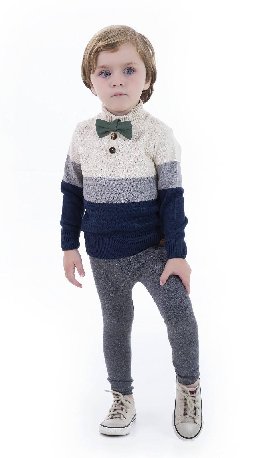 Blusa Tricot Infantil Menino Marvin