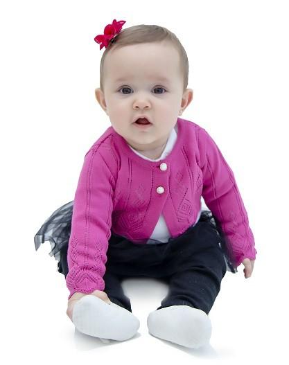 Bolero Tricot Bebê Menina Eva