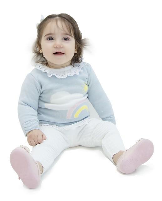 Calça Tricot Bebê Menina Ana