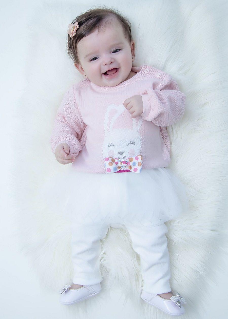 Calça Tricot Bebê Menina Isabella