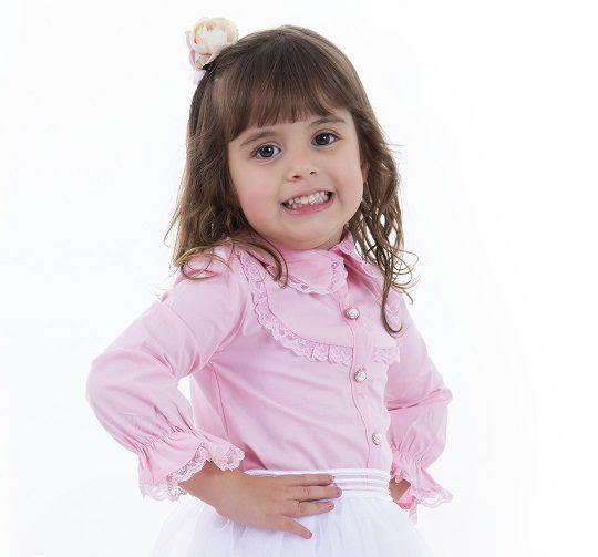 Camisa Tricot Infantil Menina Gianna