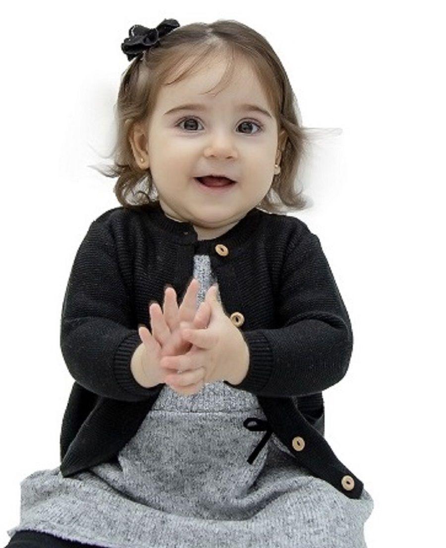 Cardigan Tricot Bebê Lícia