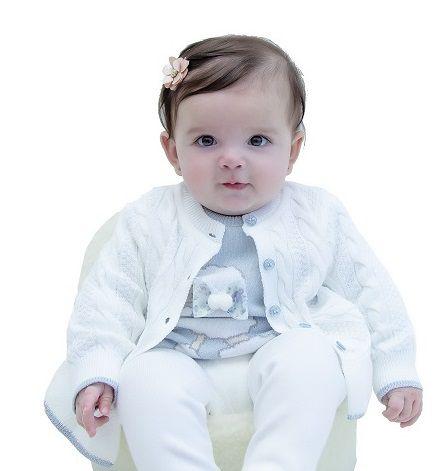 Cardigan Tricot Bebê Menina Ellie