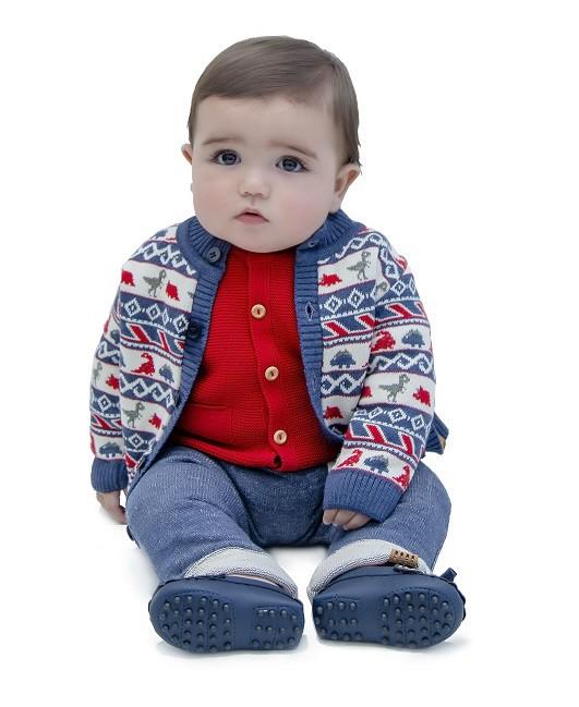 Cardigan Tricot Bebê Menino Francis