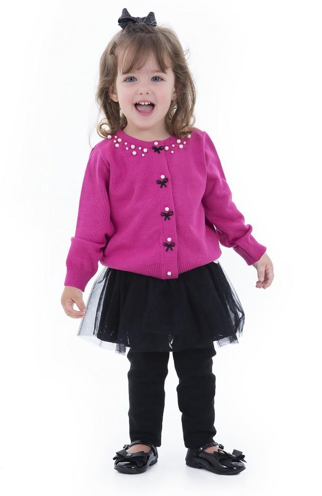 Cardigan Tricot Infantil Menina Elisabeth