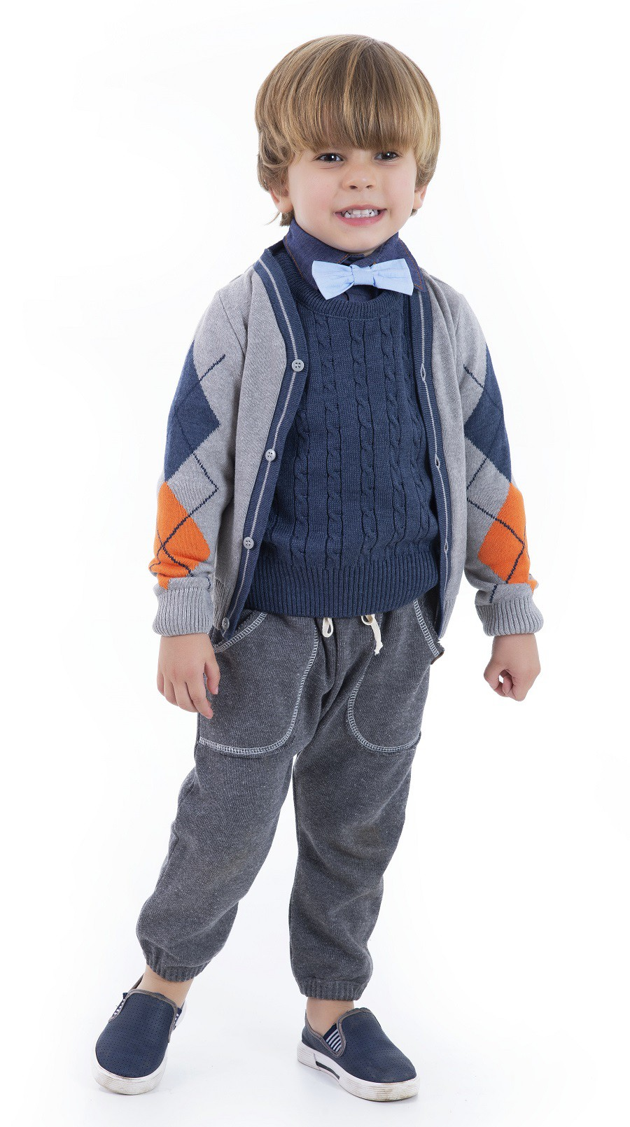 Cardigan Tricot Infantil Menino Marc