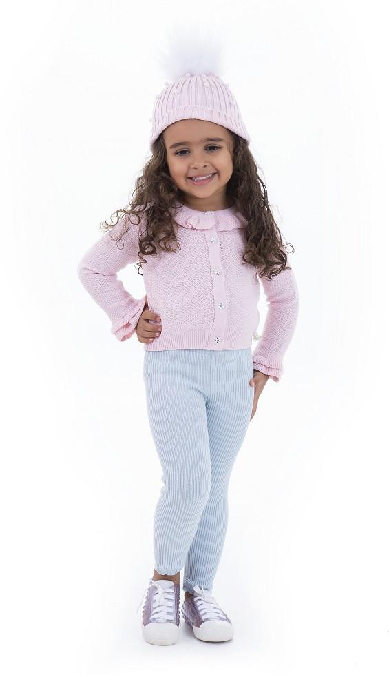 Casaco Tricot Infantil Menina Olivia