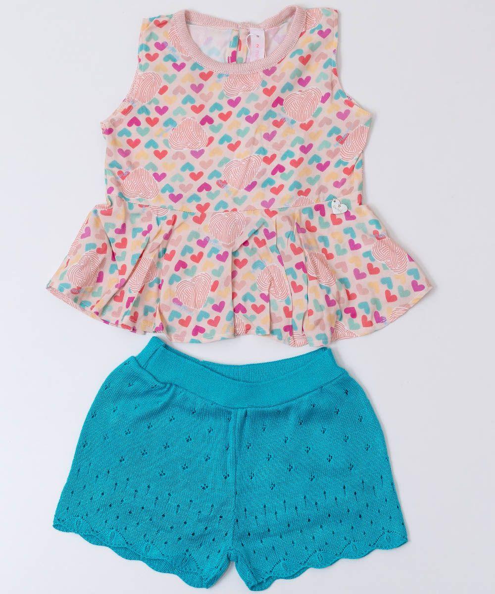 Conjunto Tricot Infantil Menina Lalá