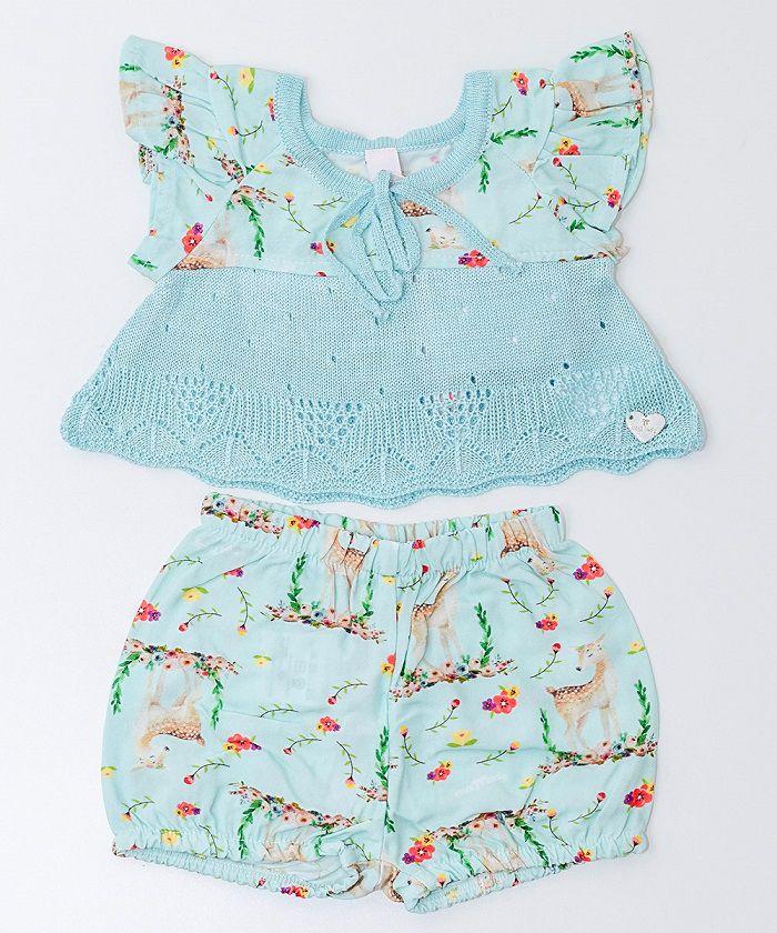 Conjunto Tricot Infantil Menina Mel