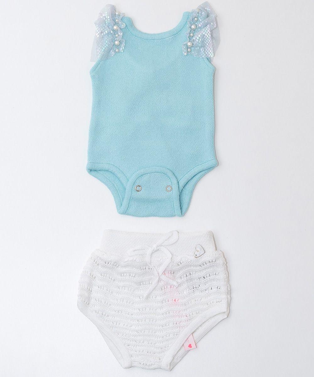 Conjunto Tricot Bebê Menina Ninfa