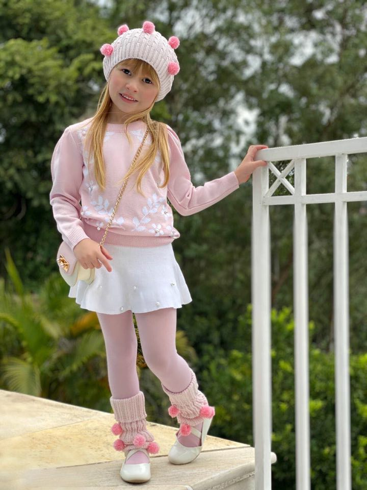 Conjunto Tricot Infantil Menina Sophie