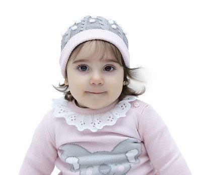 Gorro Tricot Bebê Menina Ivy