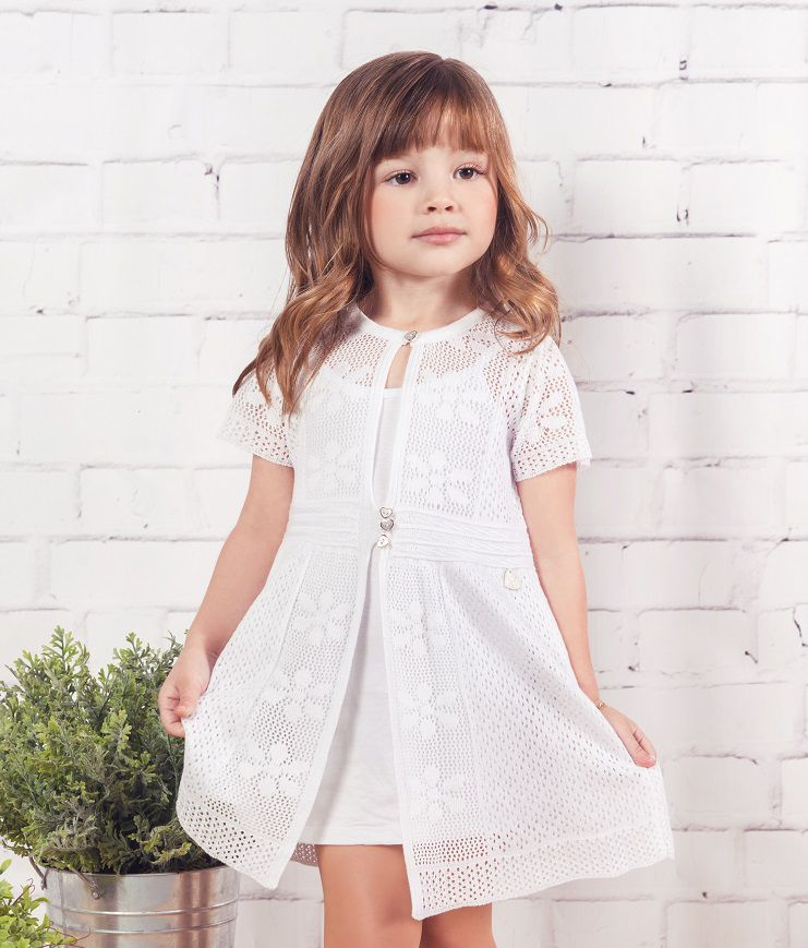 Saída Tricot Infantil Menina Glam