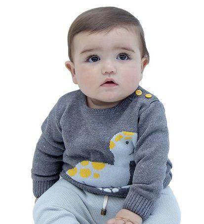Sweater Tricot Bebê Menino Alan