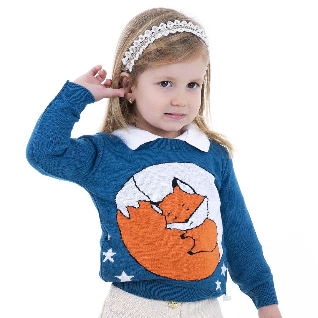 Sweater Tricot Infantil Menina Athena