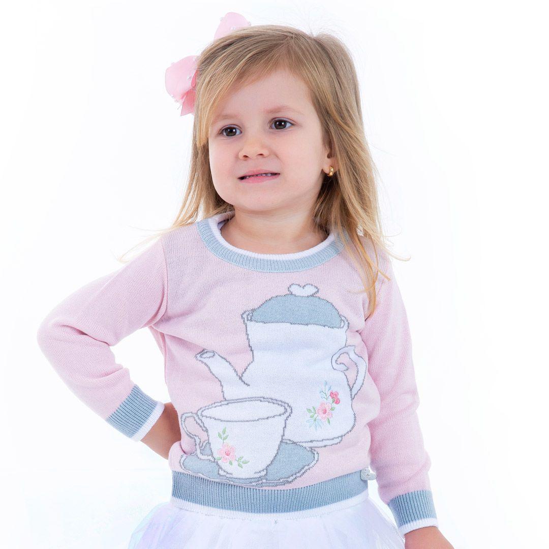 Sweater Tricot Infantil Menina Grace