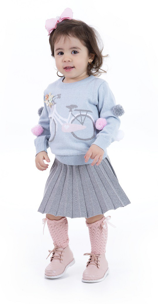 Sweater Tricot Infantil Menina Chloe