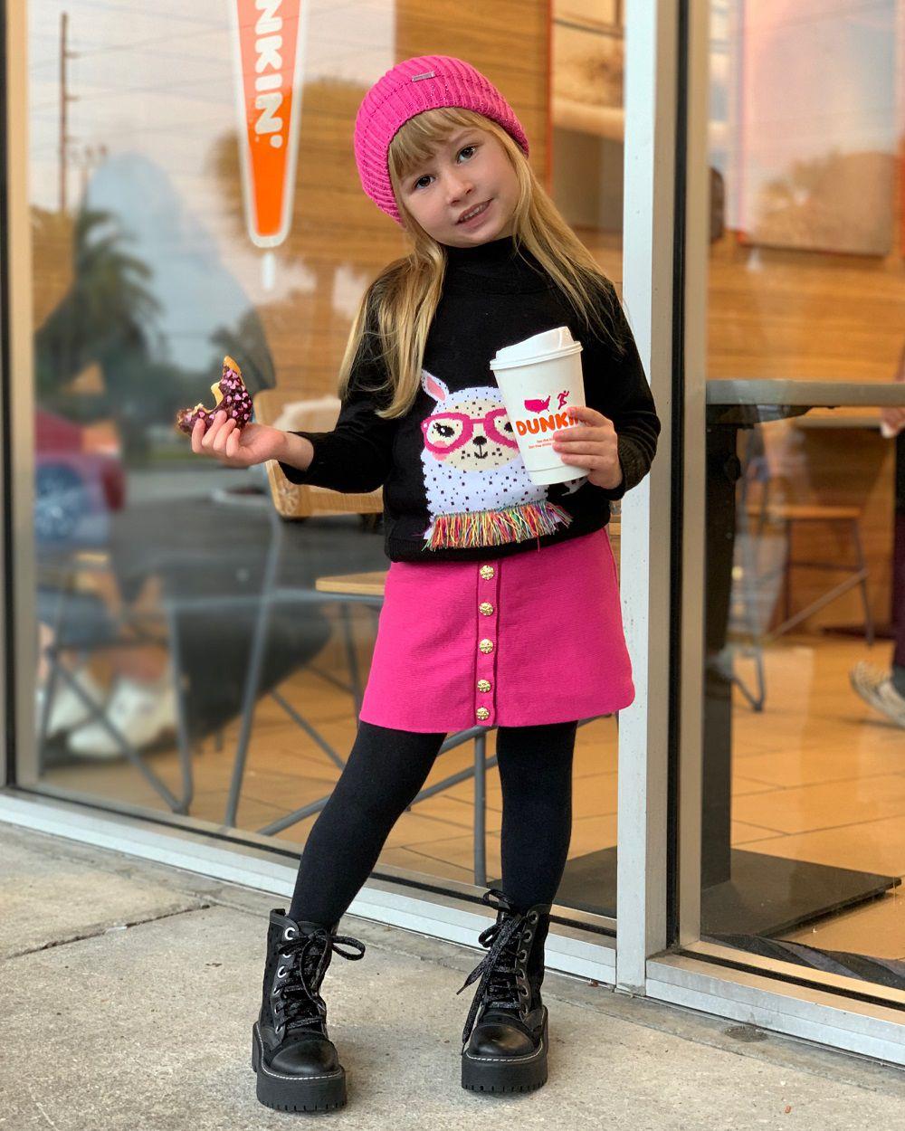 Sweater Tricot Infantil Menina Eliana