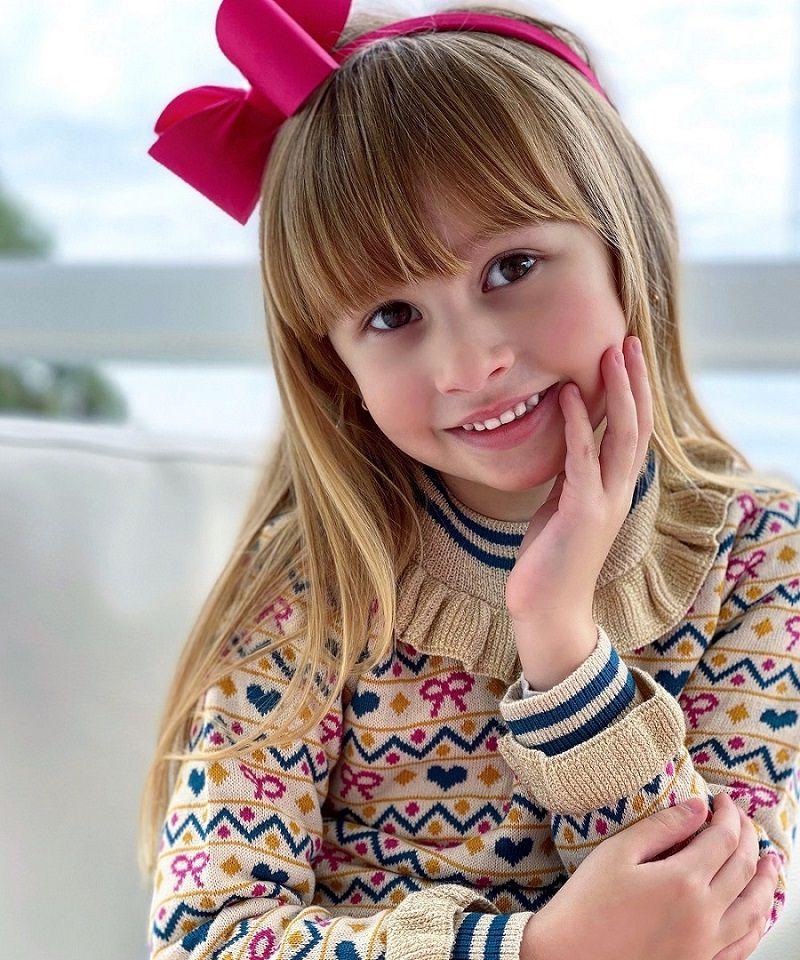 Sweater Tricot Infantil Menina Serenity