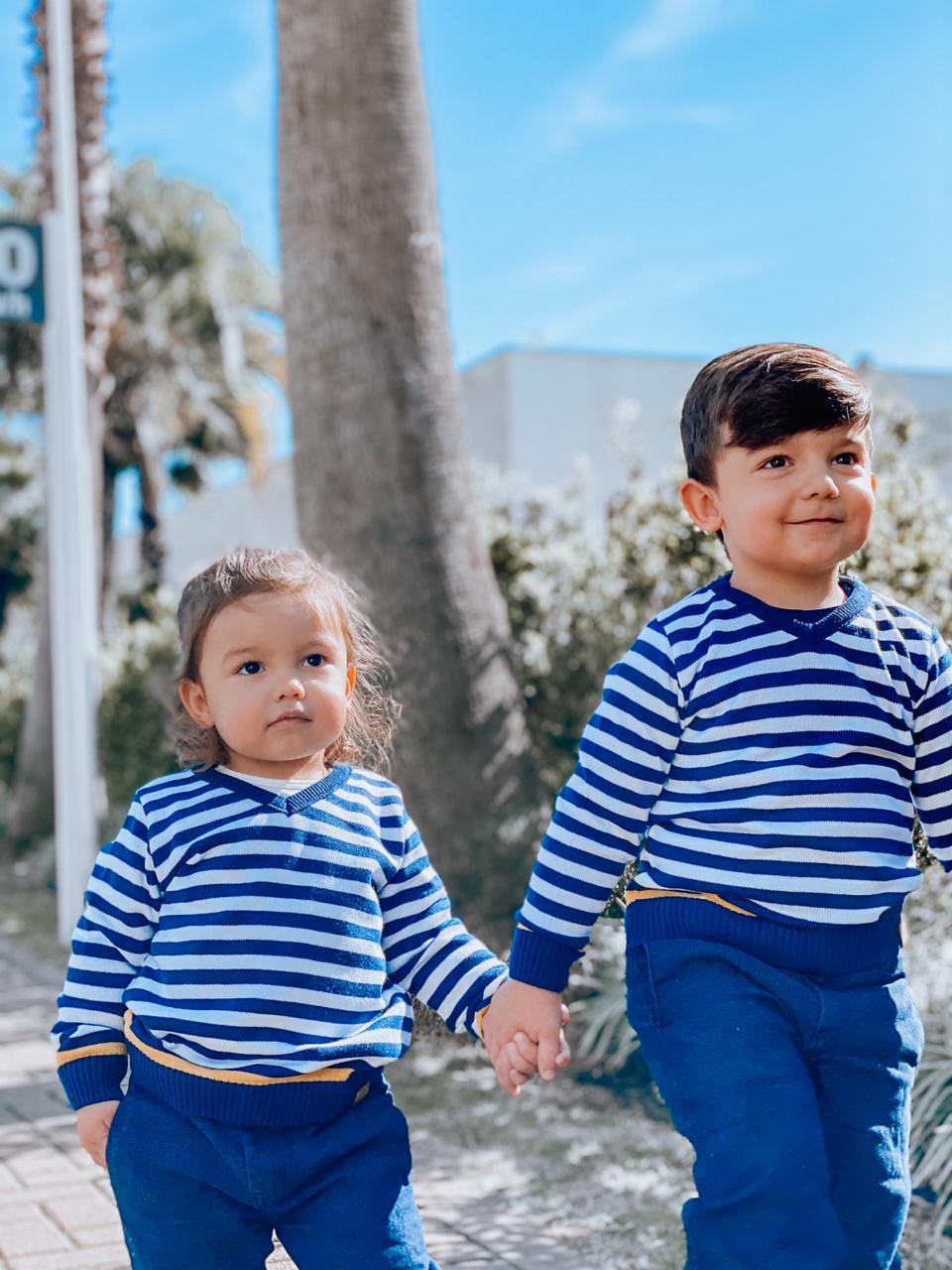 Sweater Tricot Infantil Menino Alvin Filho