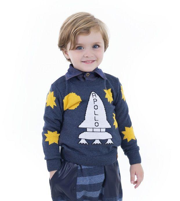 Sweater Tricot Infantil Menino Dylan