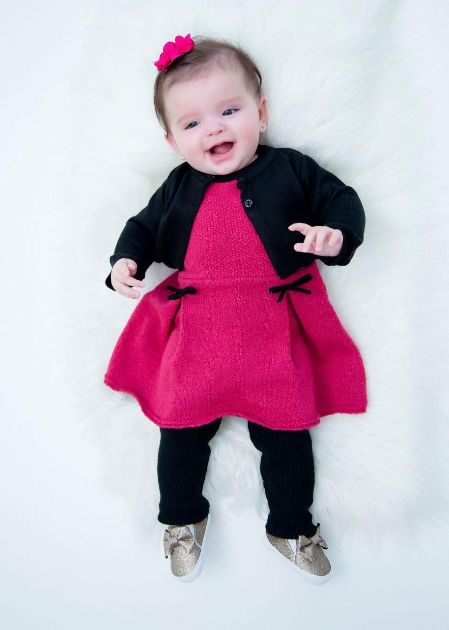 Vestido Tricot Bebê Menina Cora