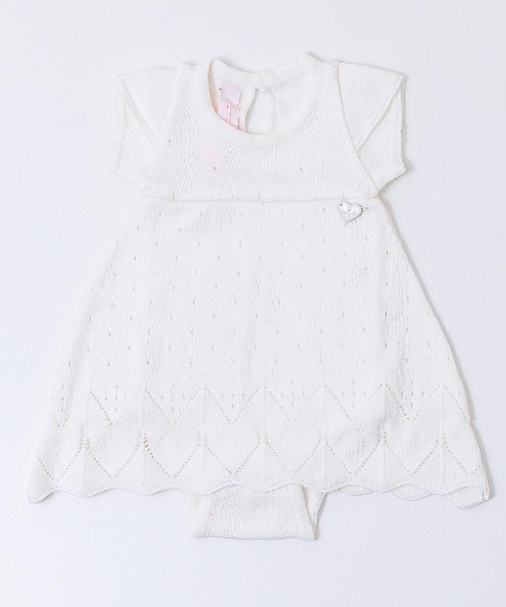 Vestido Tricot Infantil Bebê Batizado Luz