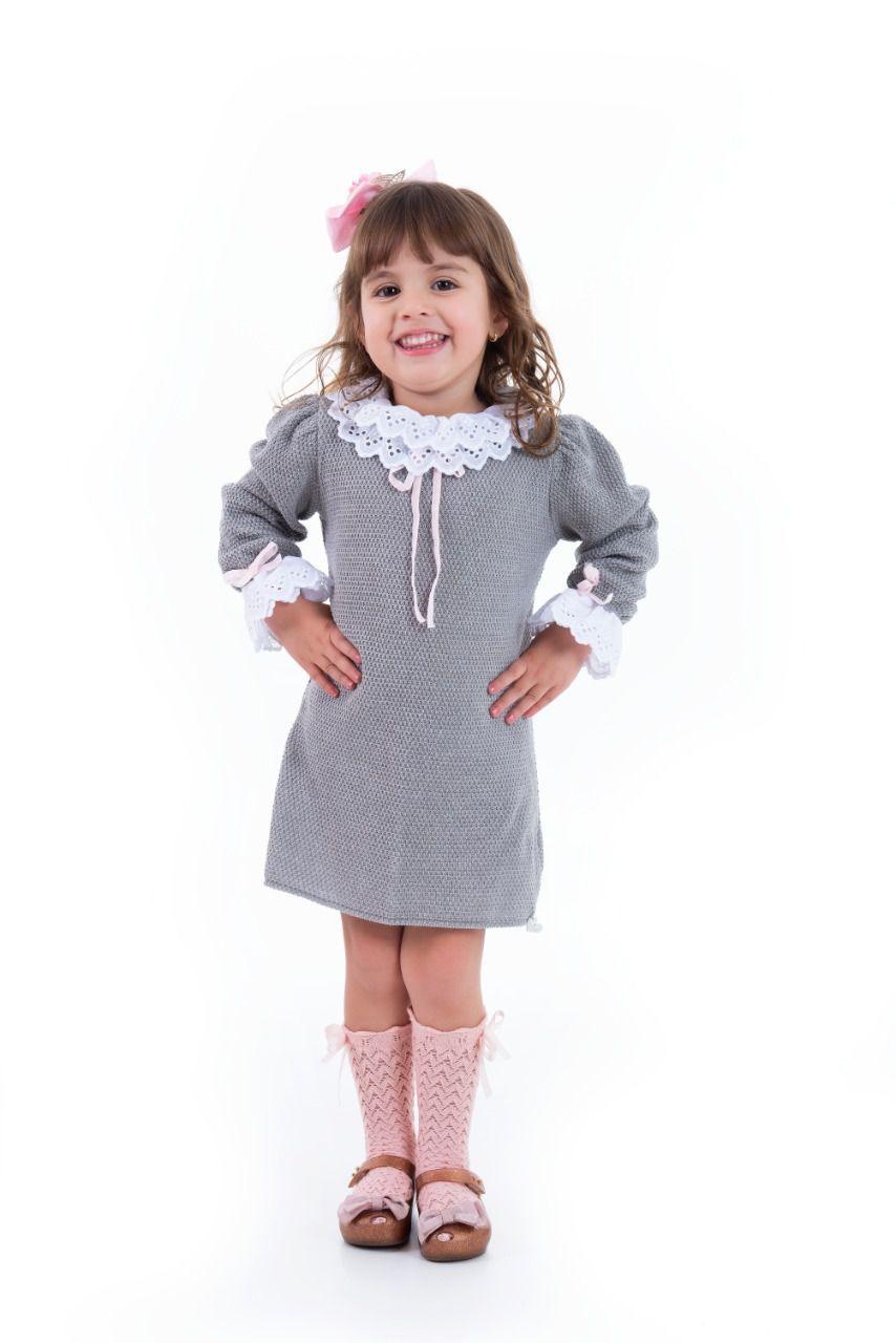 Vestido Tricot Infantil Scarlett