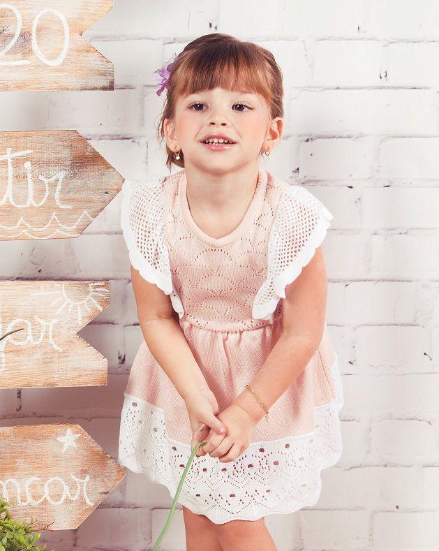 Vestido Tricot Infantil Menina Amores