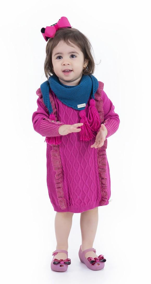 Vestido Tricot Infantil Menina Kayla