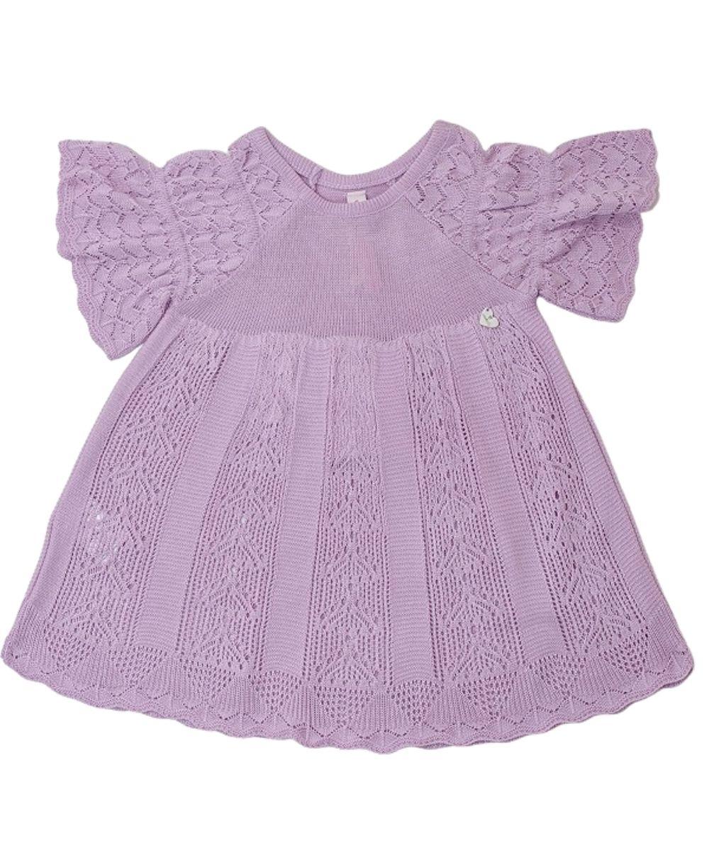 Vestido Tricot Infantil Menina Linda