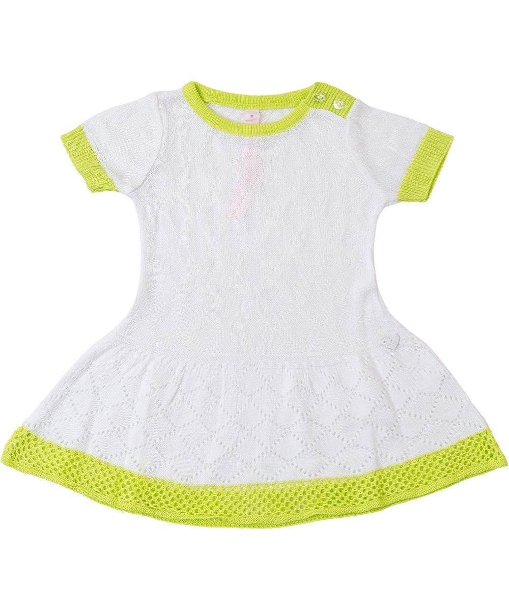 Vestido Tricot Infantil Menina Nina