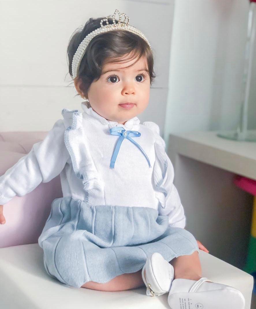 Vestido Tricot Bebê Menina Violet