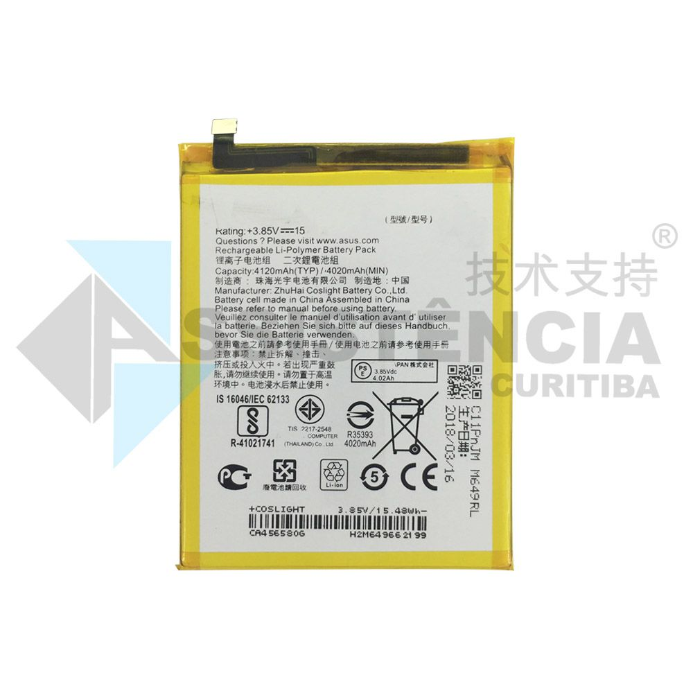 BATERIA CELULAR ASUS ZENFONE 3 MAX ZC553KL C11P1609